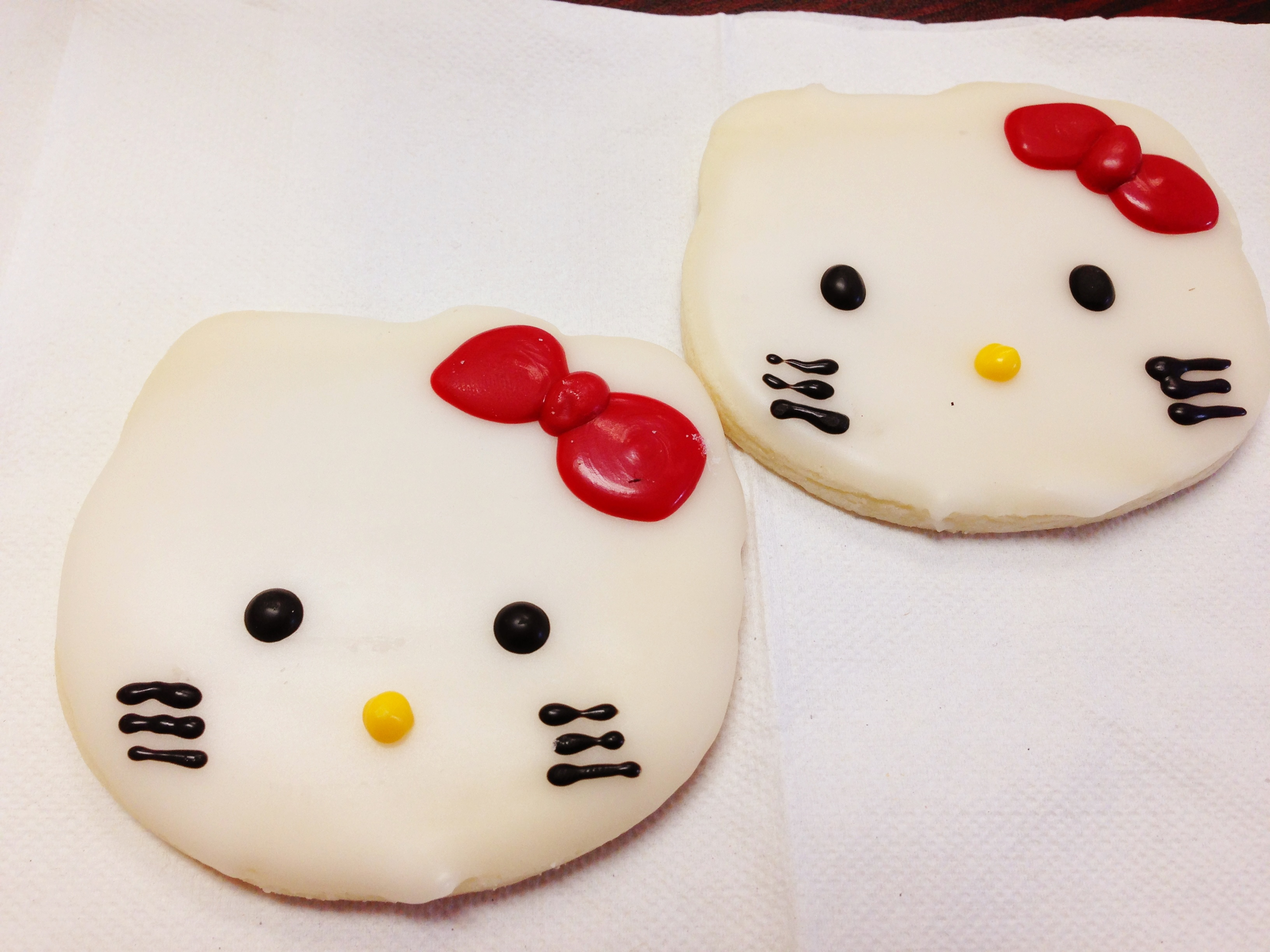 Cookies hello kitty foodie for Cuisine hello kitty