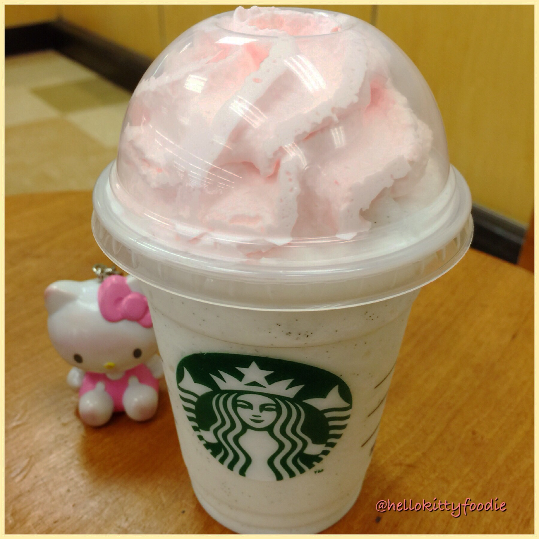 Hello Birthday Cake Frappuccino Hello Kitty Foodie