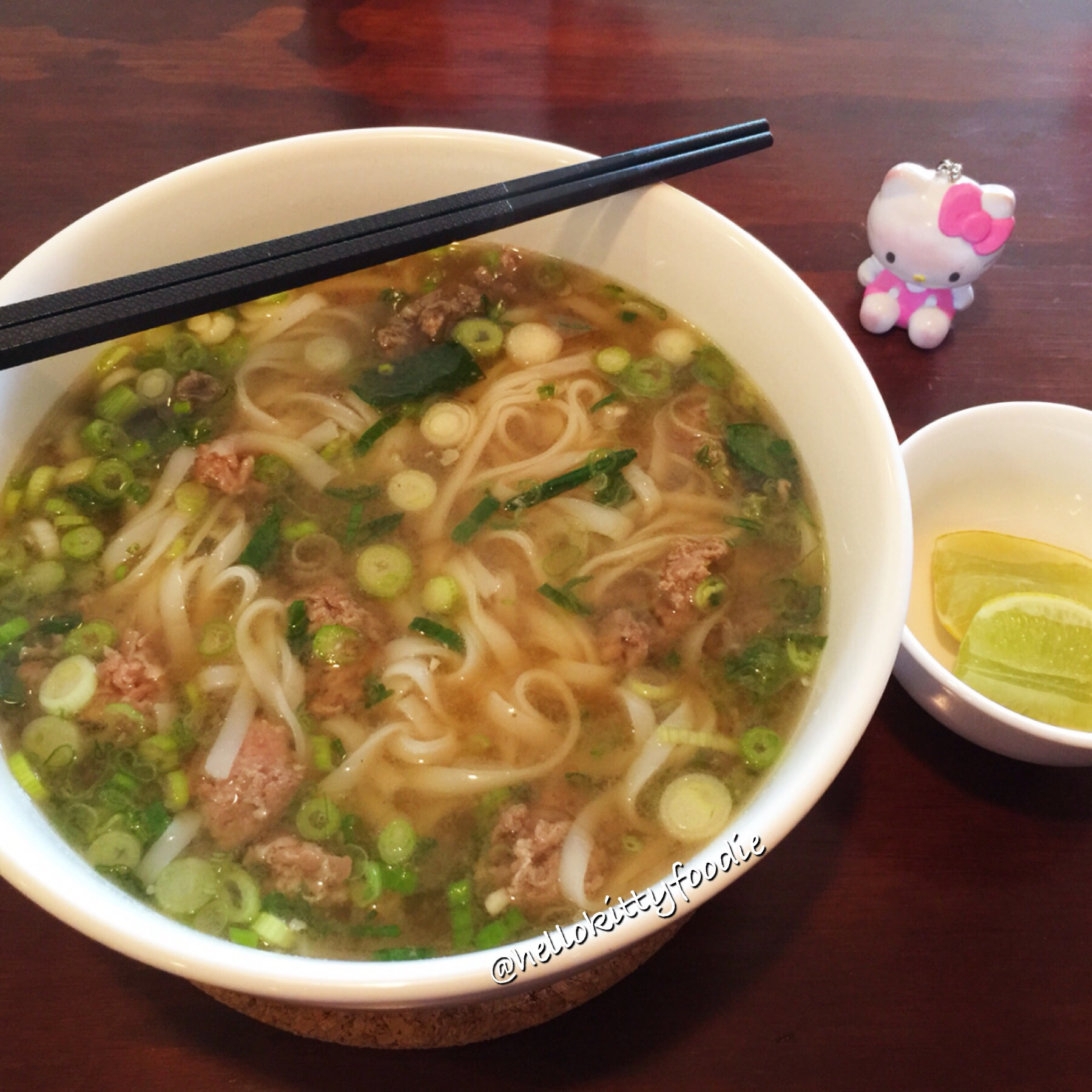 ... very interesting because unlike pho served at other restaurants, there were no bean sprouts served with it. According to the server, this is how pho is ...