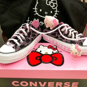 Another favorite shoe style of mine is the Converse x Hello Kitty Chuck 70  Canvas High Top. This one is pretty in pink  my favorite color! eff449d41
