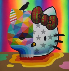 Artist Okuda San Miguel - for Hello Kitty 45th Anniversary Group Show